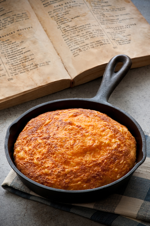 The yellowed pages of this old family cookbook inspired this cornbread recipe, and memories of my grandma.
