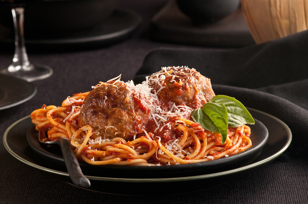 giant meatballs stuffed with bocconcini