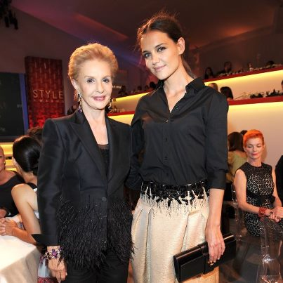 Carolina Herrera and Katie Holmes - 9th Annual Style Awards at Lincoln Center - September 5, 2012