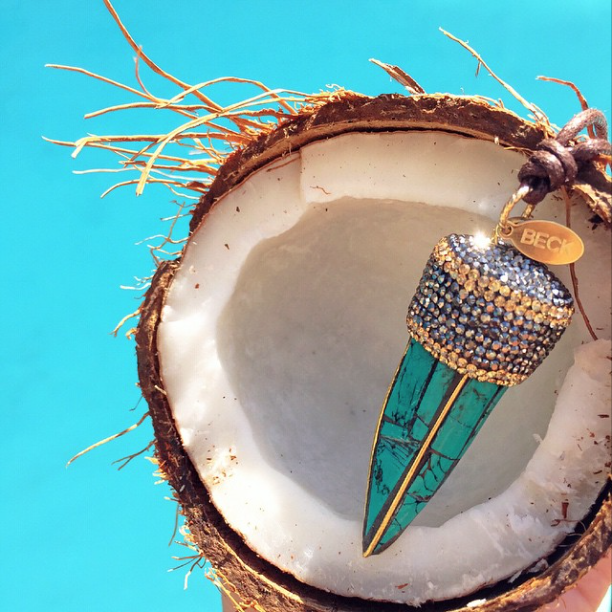 Perfect summer touch... BECK Turquoise Encrusted Horn