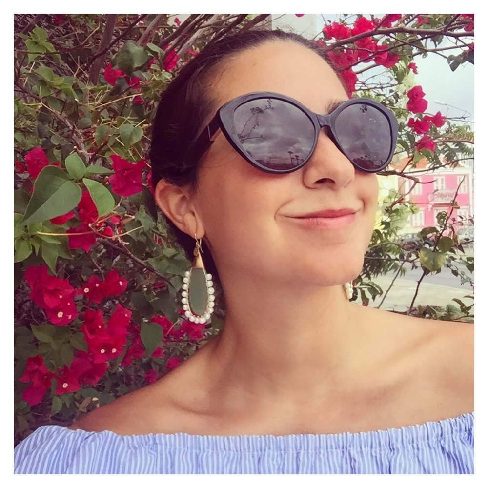 Wearing our Lolita earrings inspired by Caribbean vibes...