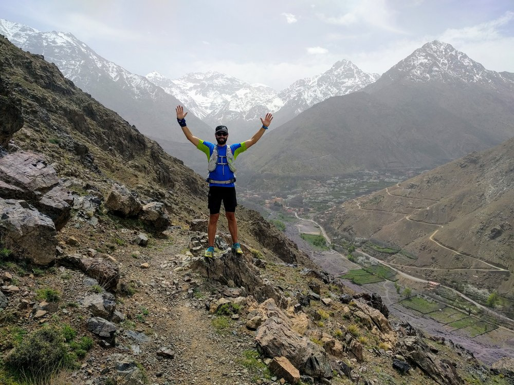 The amazing trails around Imlil on Day 5. Toubkal behind