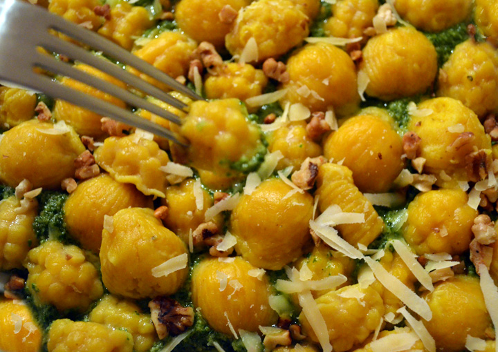 Butterniut Squash Gnocchi with Kale Walnut Pesto