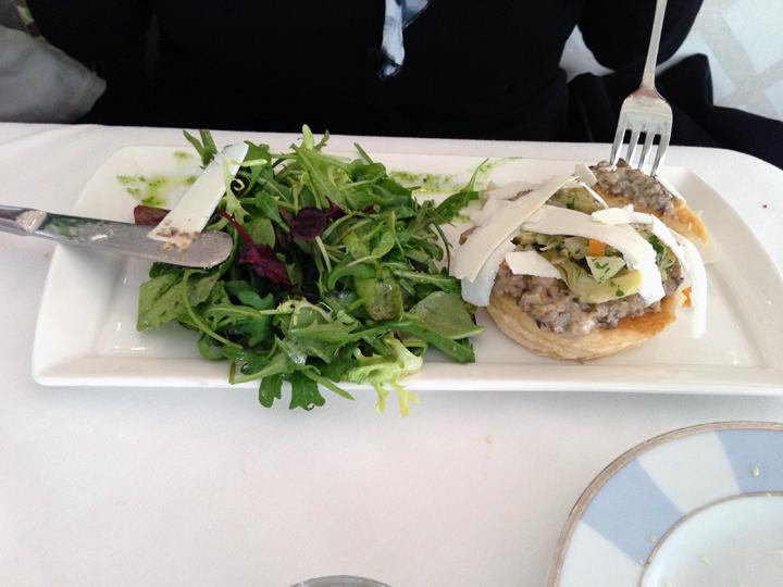 Artichoke, Mushroom and Ricotta Salata Tart