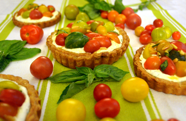 heriloom tomato tart
