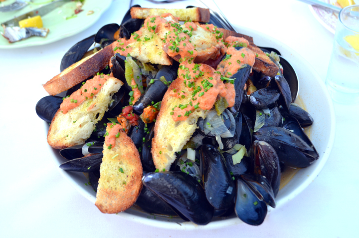 Dock to Dish sourced Wild blue mussels harvested by Captain John Berglin.