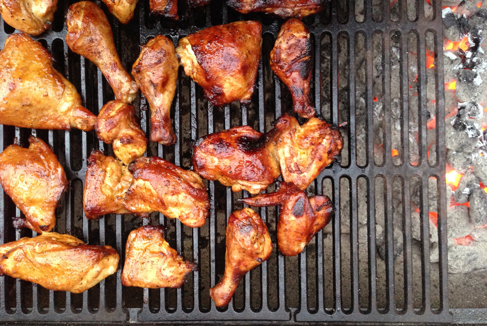Charcoal Barbecue Chicken