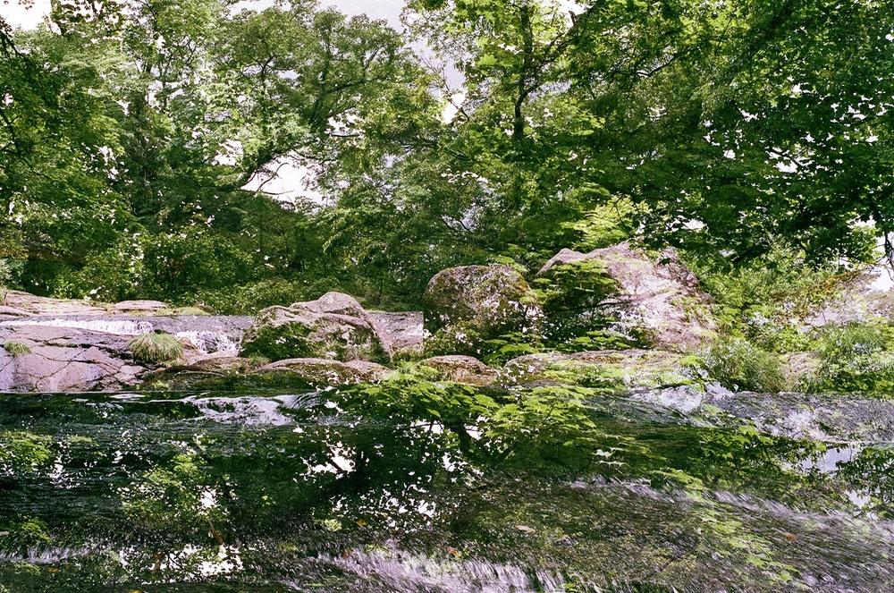 multiple-exposure film photo, Kikuchi Gorge, KumamotoJapan (2010)