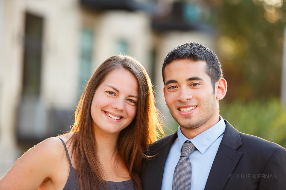 Katie and Yusuf in beautiful golden rim light
