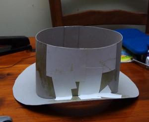 Сделать из картона цилиндр