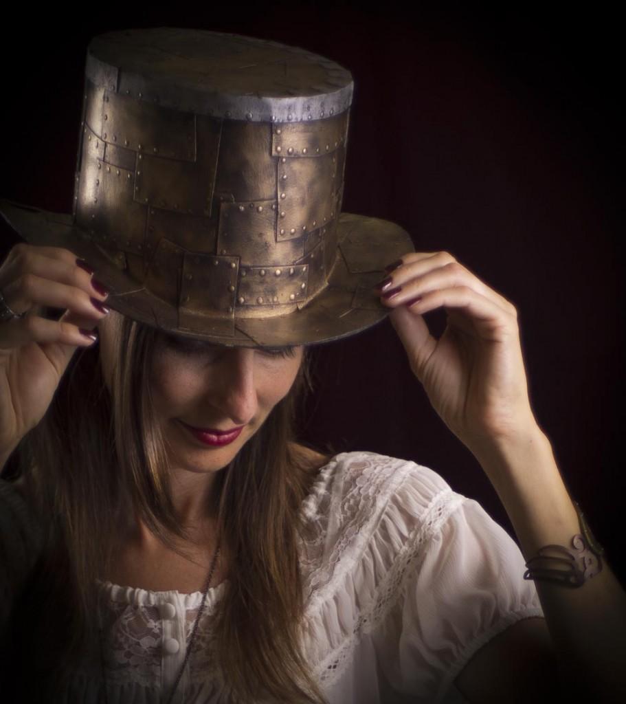 cardboard steampunk top hat tutorial lost wax