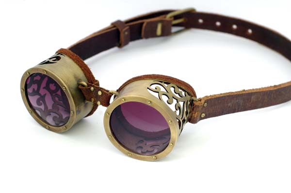 Brass Goggles: eye protection with style.