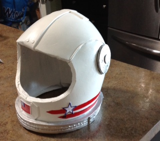 So much fun to be an astronaut wearing this  Space Helmet .
