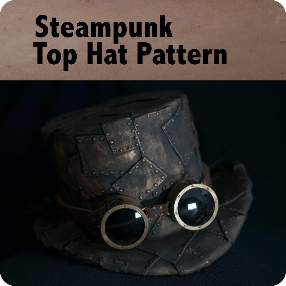 Steampunk Top Hat Pattern Photo 3db19dc73b5