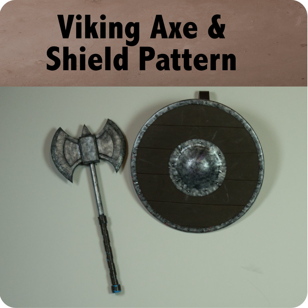 Viking Axe and Shield Pattern Photo