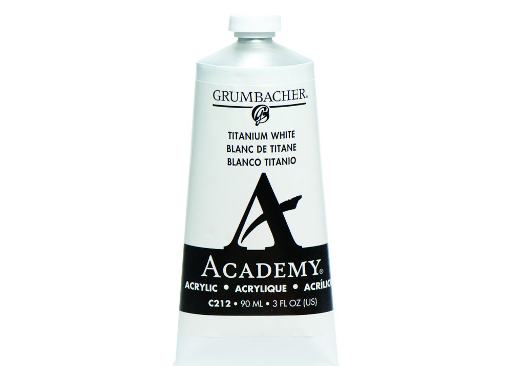 Grumbacher Acrylic Paint - I have used Mars Black, Burnt Umber and Titanium White