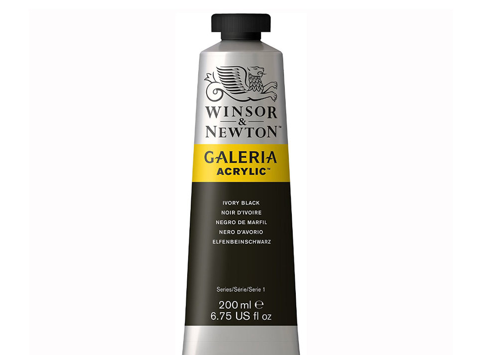 Windsor & Newton Acrylic Paint - I have used White, Silver and Ivory Black