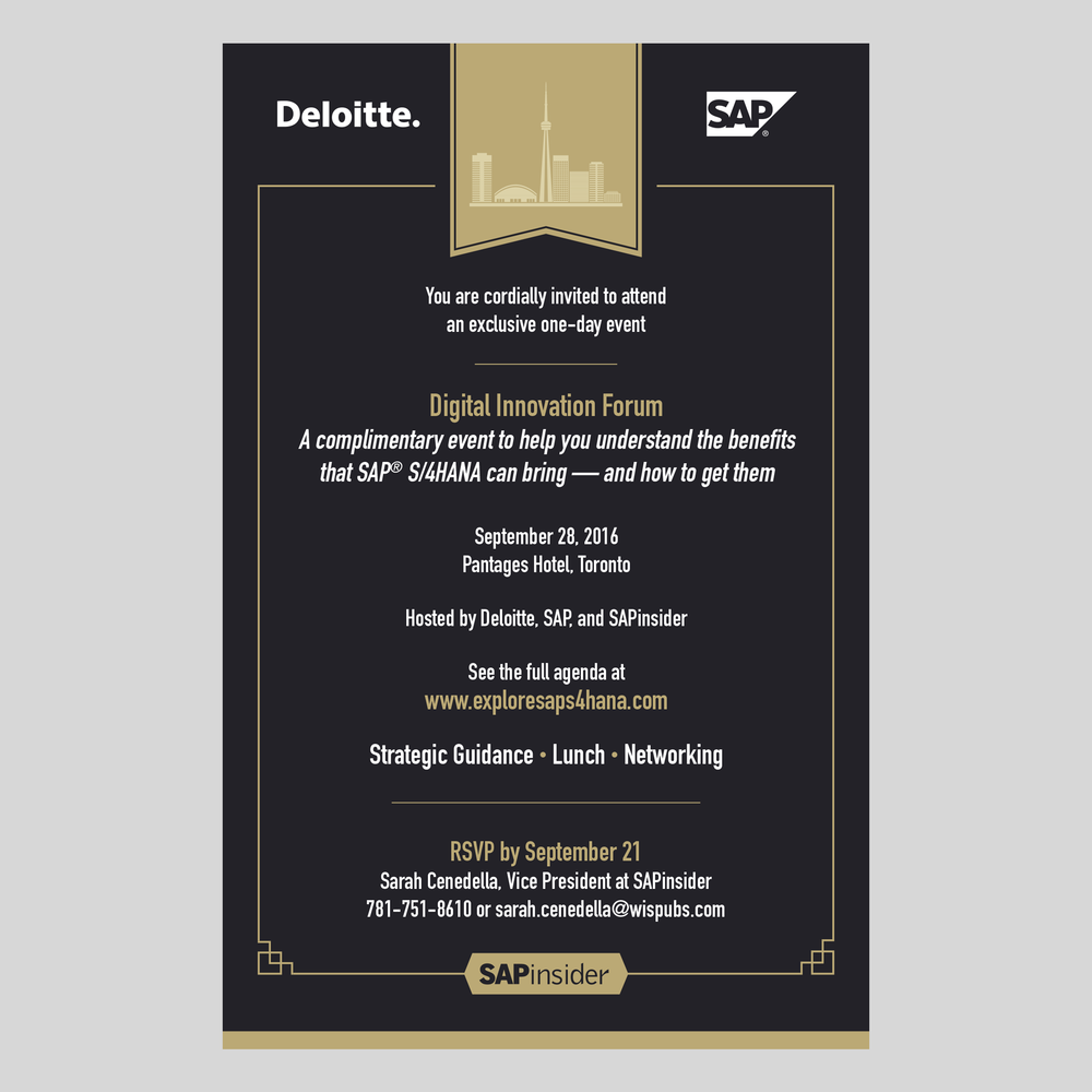 Executive-level event invitation