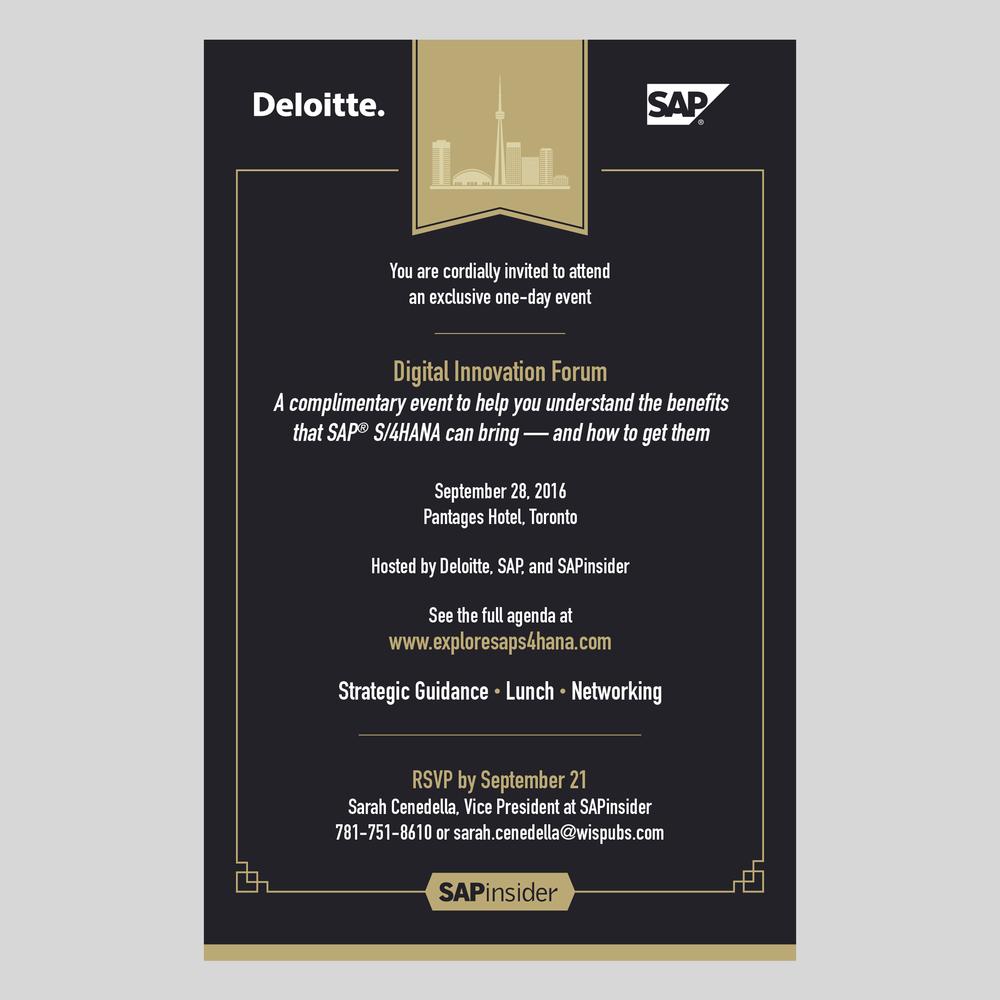 Executive-level event invitation