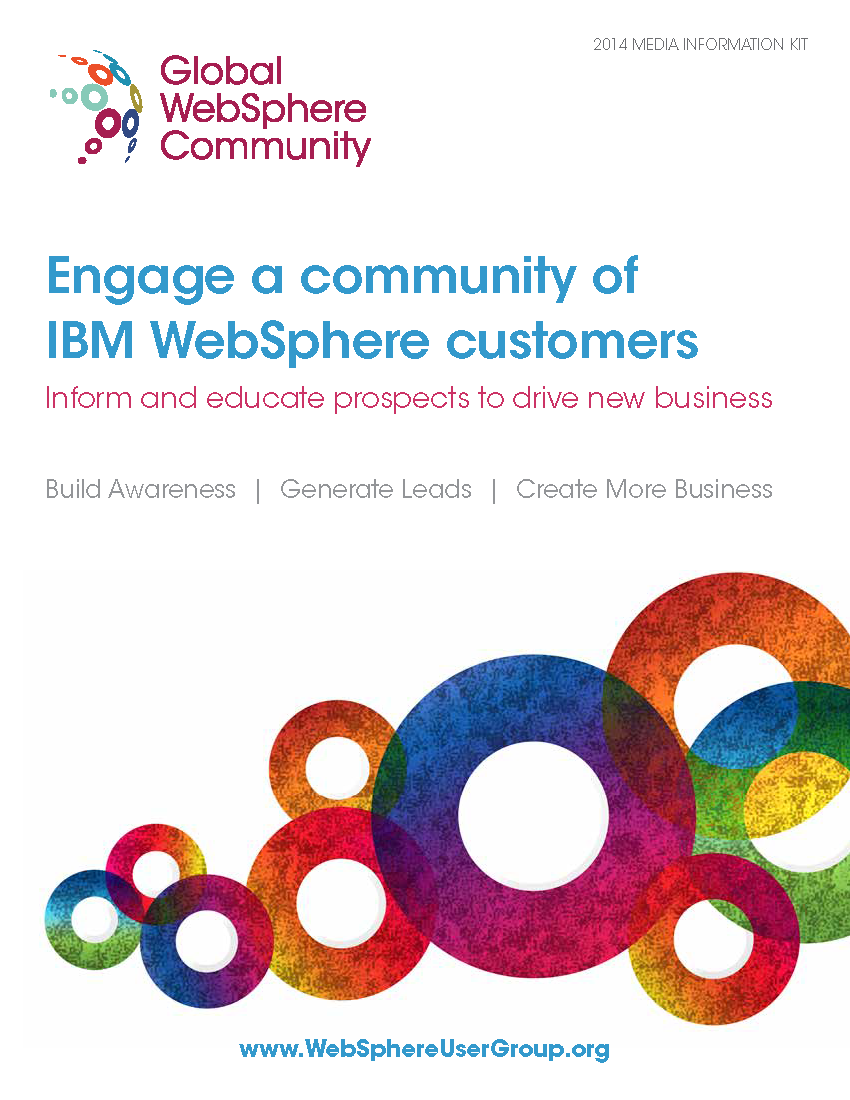 Sales Brochure for Global WebSphere Community (Click Image for Full Brochure)