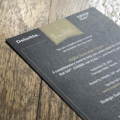 Print Invitation for Executive-Level Event