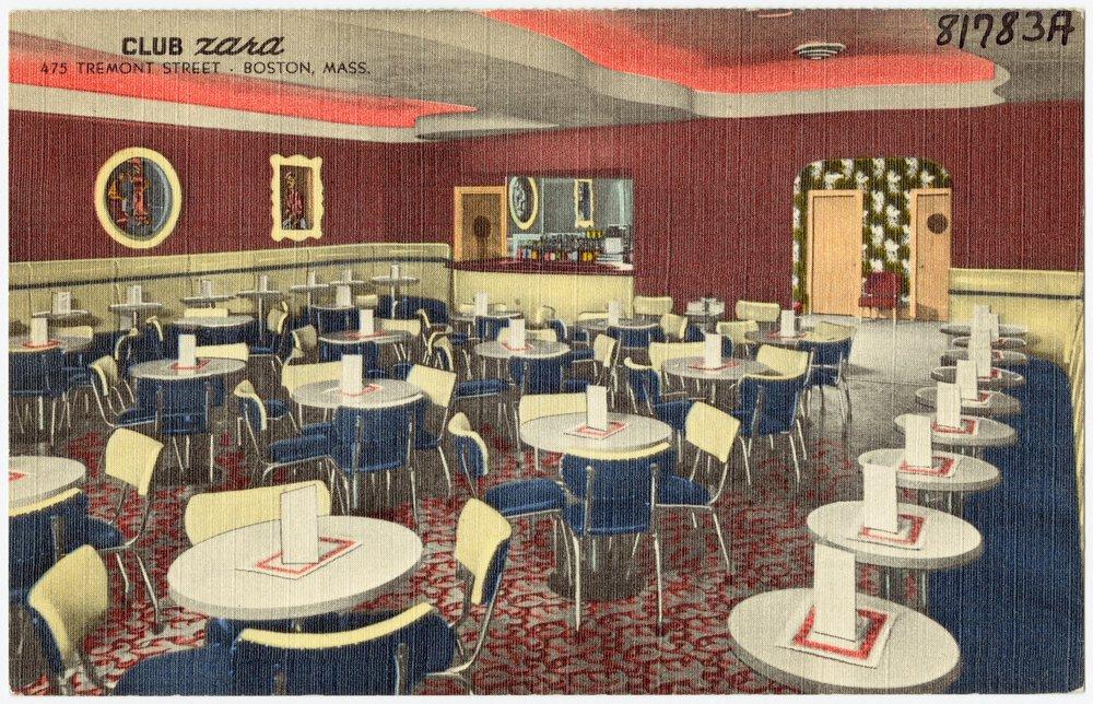 Postcard of Club Zara