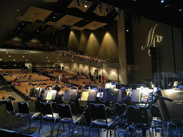 Almost show time in #Jackson #mississippi with the MSO. A bit of lead trumpet on some pops stuff. Orchestra sounds great! #music #trumpet #leadtrumpet #iplayshires #seshires