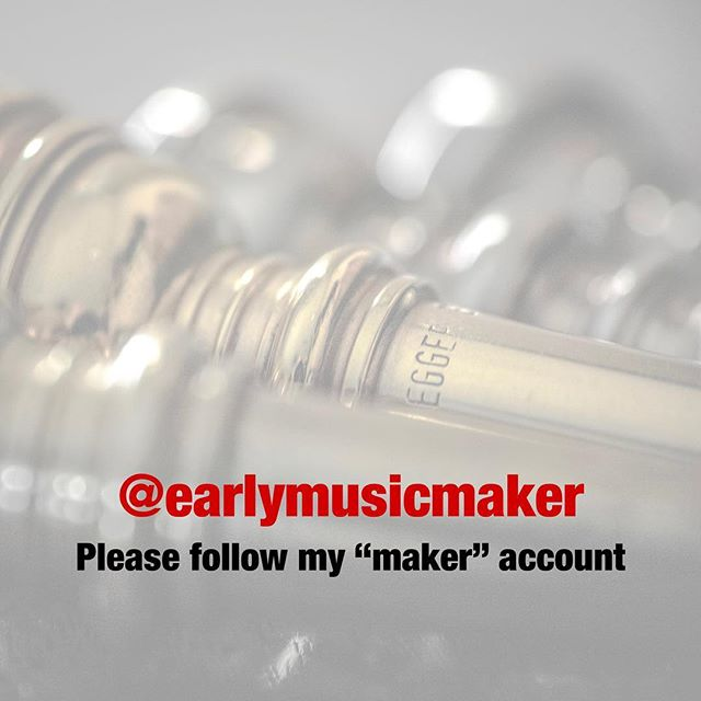 Hey folks! I'm moving my making/designing pursuits in early music to @earlymusicmaker (twitter and instagram) and keeping more personal stuff here. I'd love it if you'd follow me and share these new accounts. Thanks! #luthier #earlymusic #music #woodworking #baroquetrumpet #cnc