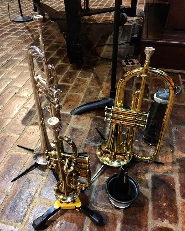 Tonight's trumpet family #trumpet #selmer #selmerparis #seshires #iplayshires #flugel #yamaha and #BrianShawsFavoriteCupMute