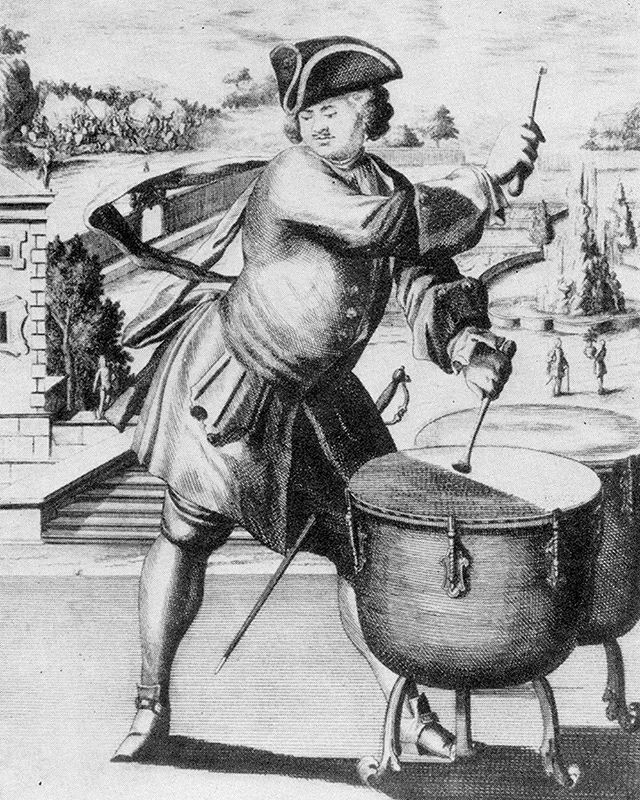 Found an online photo of @tabithamarie11 ;) #earlymusic #pauken #timpani #drums #woodblockprint #woodcut #blockprint