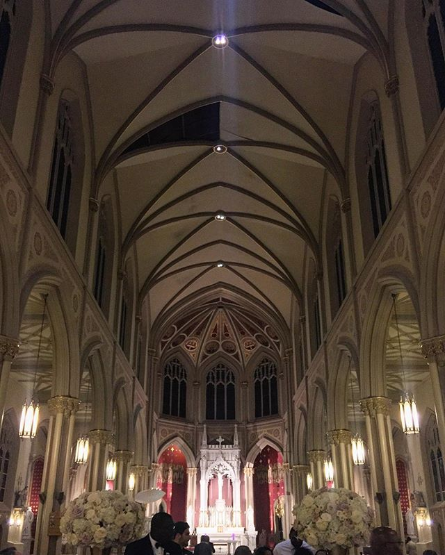 First time playing here... lovely church on the @loyola_nola campus in #Nola. #music #wedding #trumpet #music #neworleans #selmer #seshires