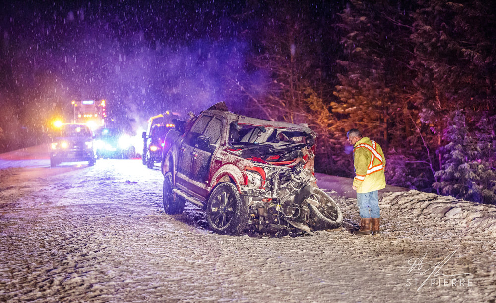 A head-on collision on Highway 3/95 - Cranbrook RCMP was called to a motor vehicle collision and the Jaffray Fire Department, Cranbrook Fire & Emergency Services and BC Ambulance also attended.