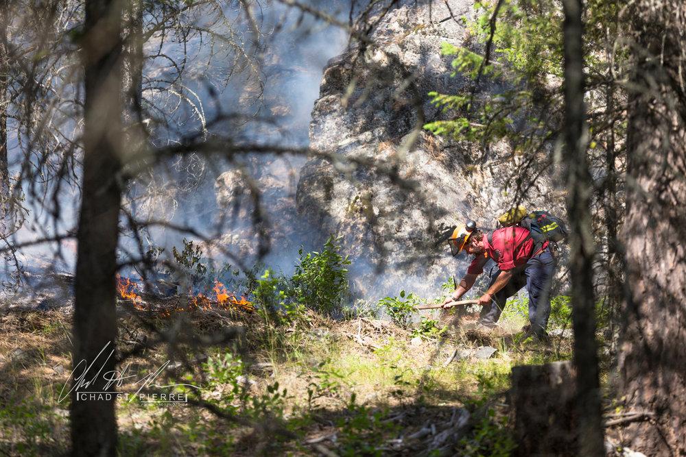 BC Wild Fire Service puts out fire near cranbrook -