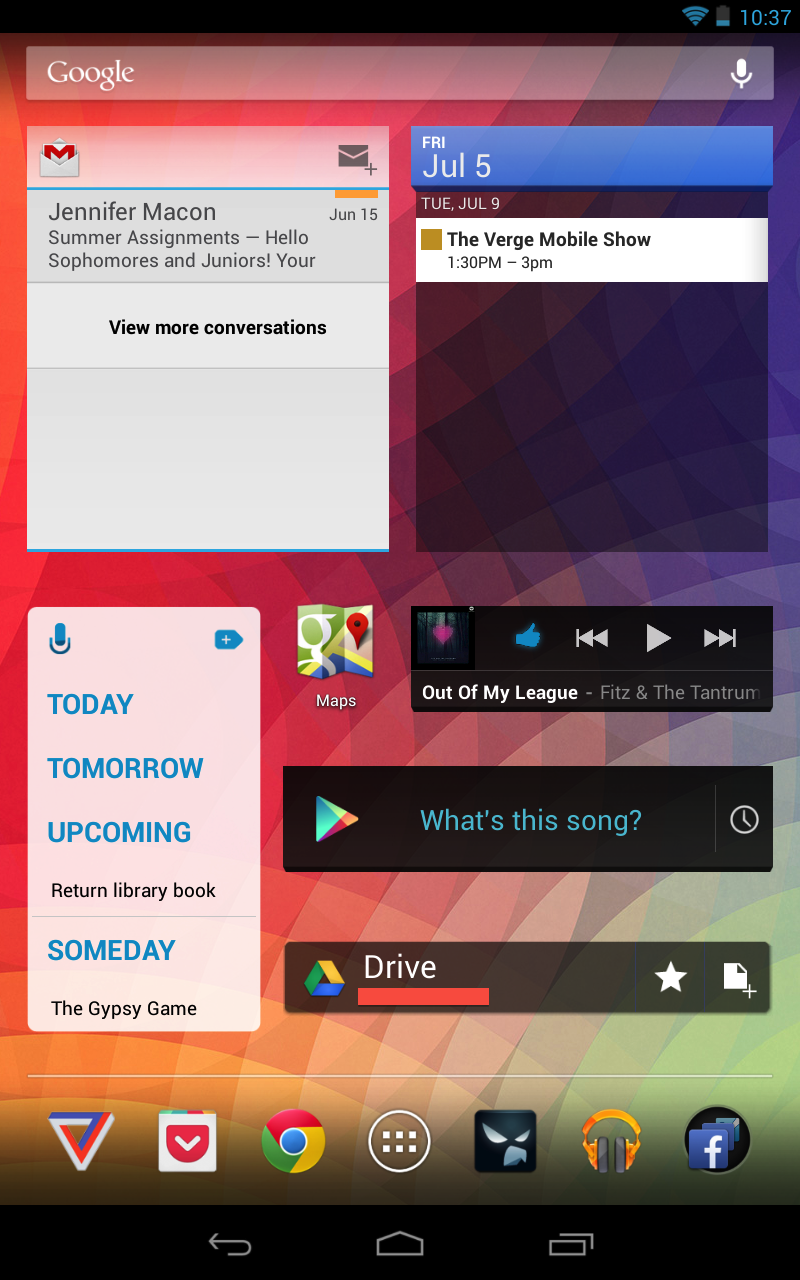 Simultaneously being able to interact with Gmail, Calendar, and my Reminders app.