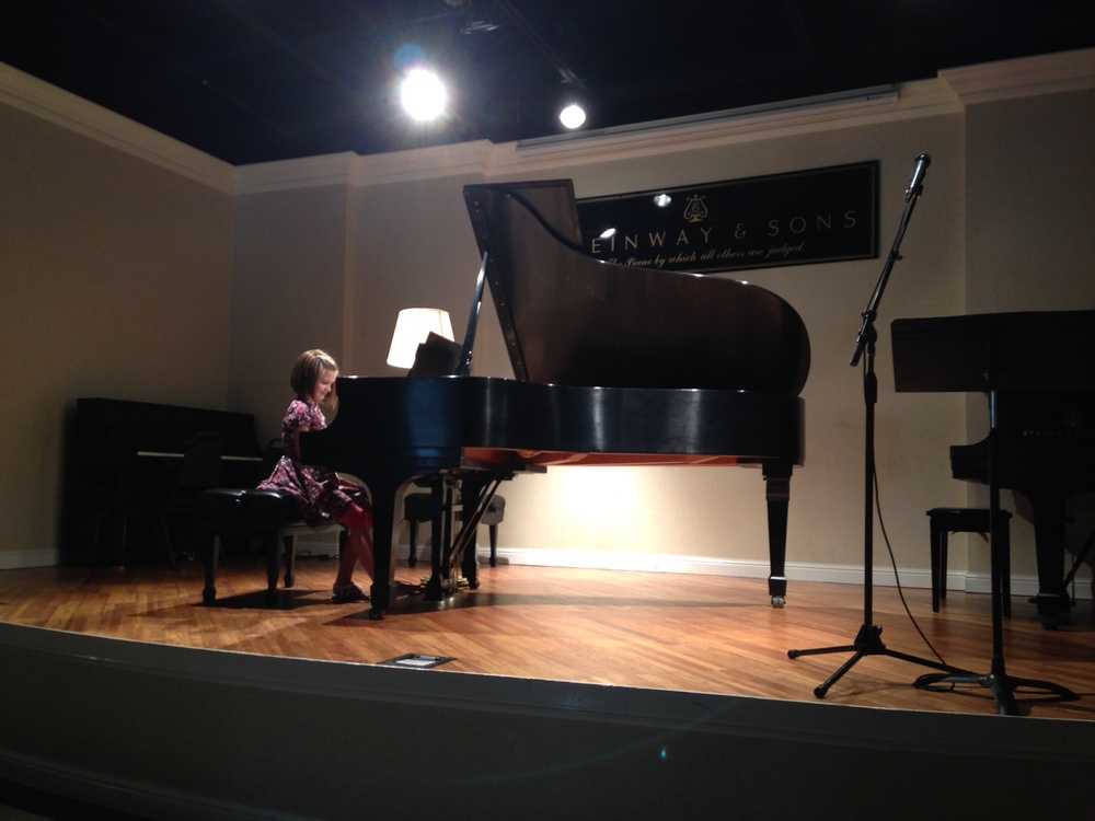 Emily B. performed a beautiful version of Beethoven's Fur Elise.
