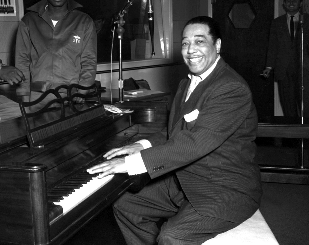 Duke Ellington, who's music was heavily influenced by blues roots.