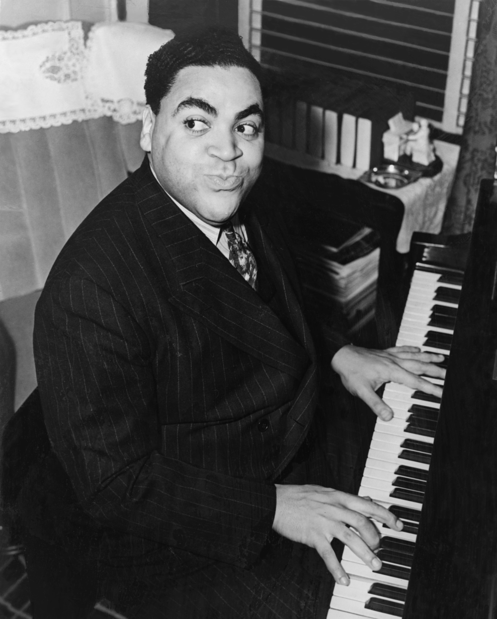 Fats Waller, an early jazz pianist, was heavily influenced by the blues.
