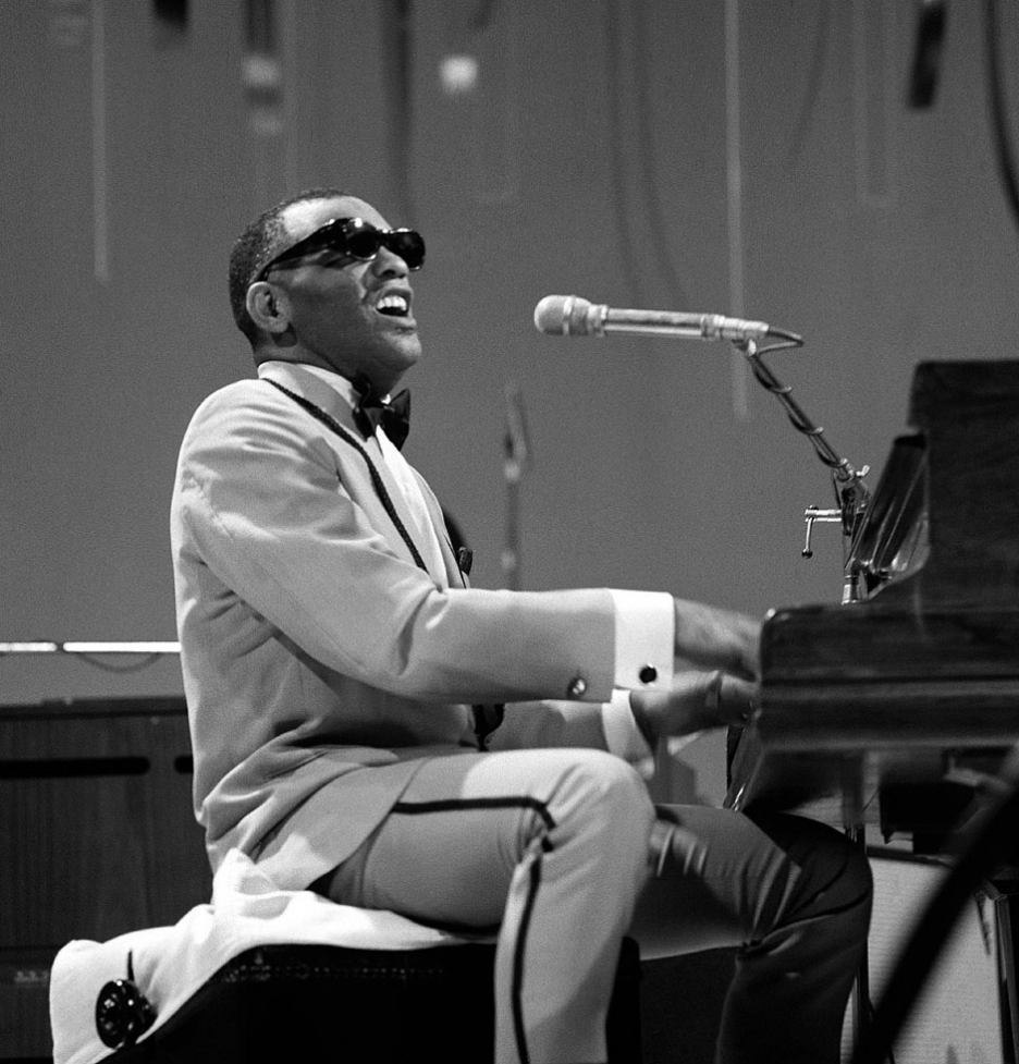 Many of Ray Charles' top hits follow a 12 bar blues chord pattern.