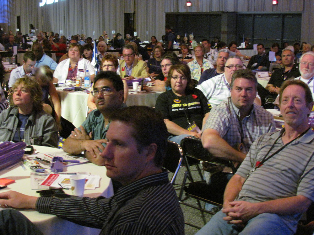 SEIU Denver Convention 2012 - L.2 delegates on Convention floor.JPG