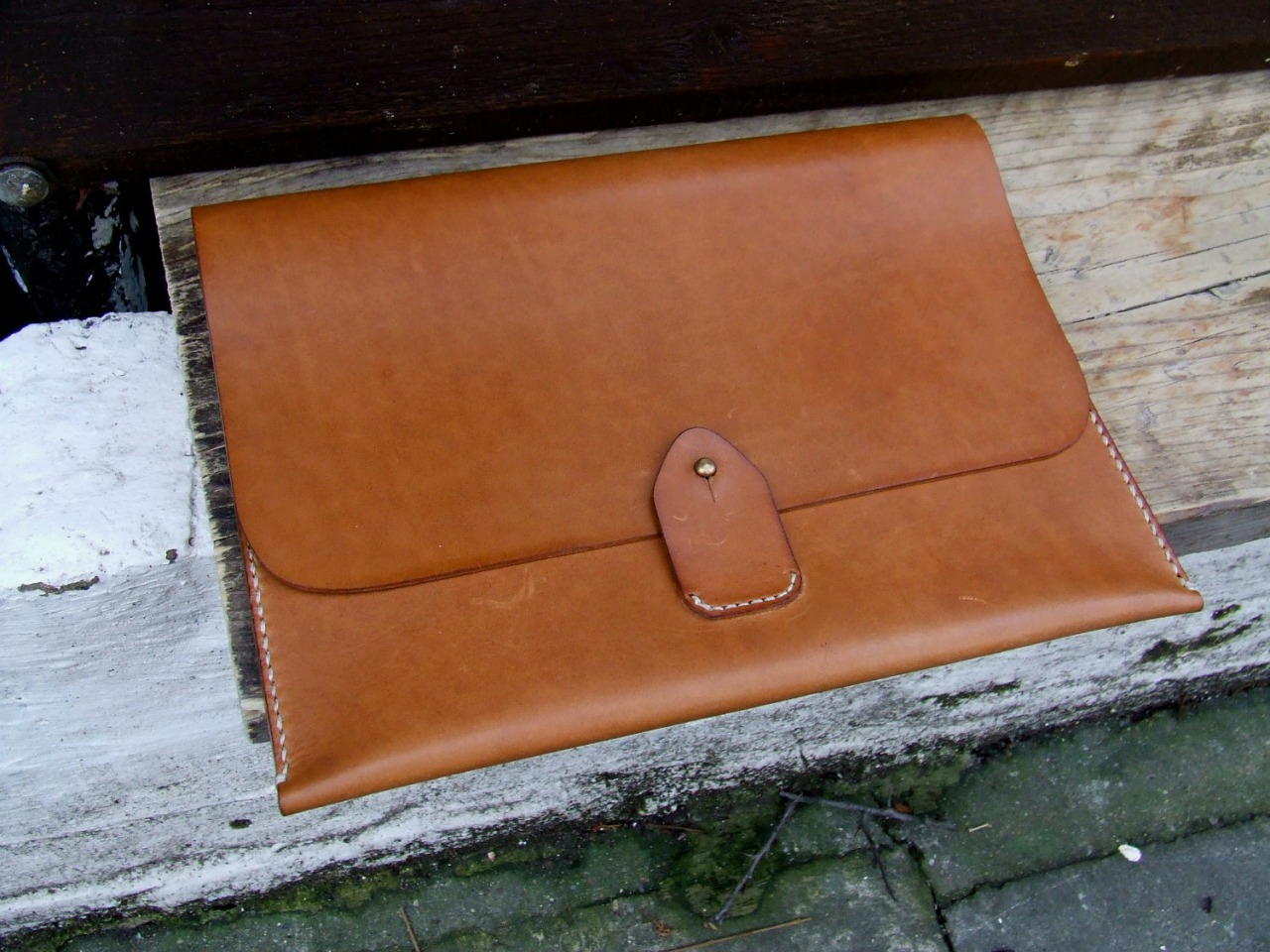 Ipad case in tan