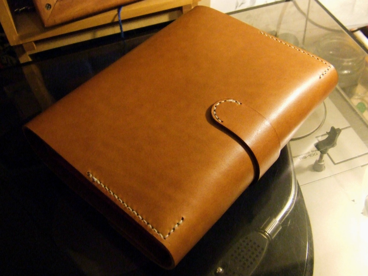 Back of Leather Book Case
