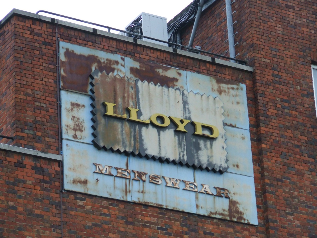 Old factory sign in Dalston.