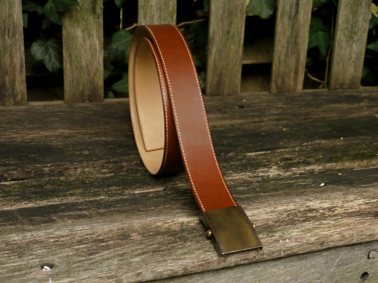 Double sided, bespoke belt, fully handsewn