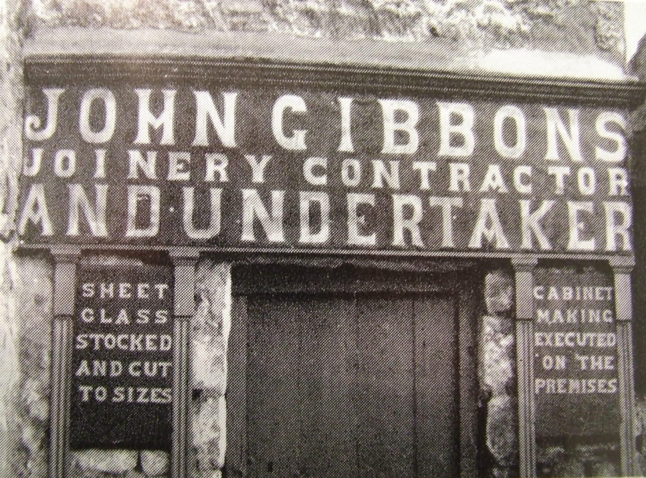 'Westport, Ireland. A door heading which conveys a vivid impression of the owner and his business '  - taken from 'Lettering On Buildings' by Nicolete Gray ( 1960 )
