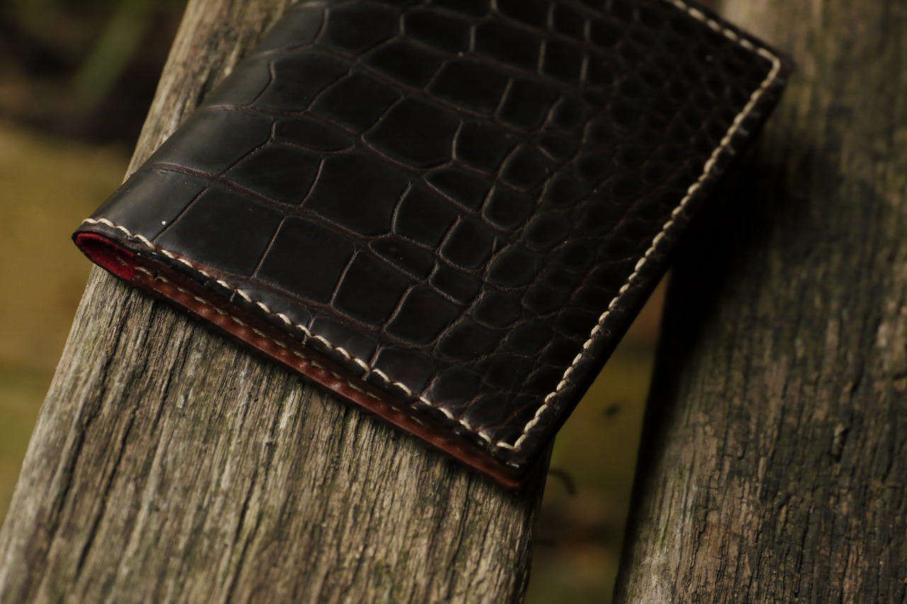I did some work involving crocodile leather, and have to admit final result looks truly stunning.