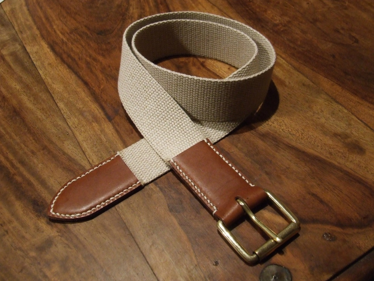 First stage of Cotton + Leather Belt, I must get some brass eyelets to finish this one. Linen thread comes from the Cloth House . Its a rare, vintage and very heavy thread, sadly guys in the store didnt know the origin.