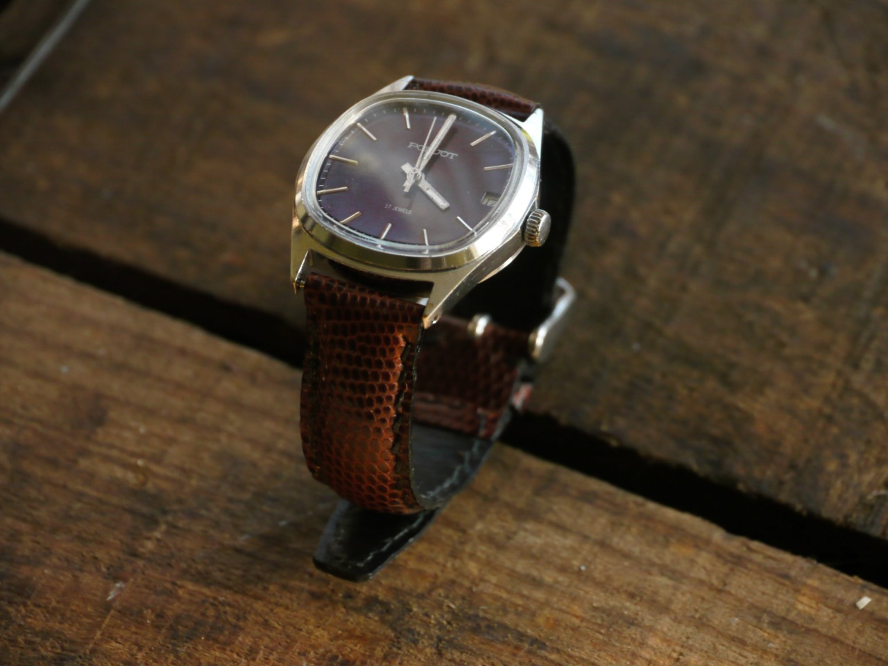 Poljot ( made in USSR ) and Burgundy Lizard watch strap