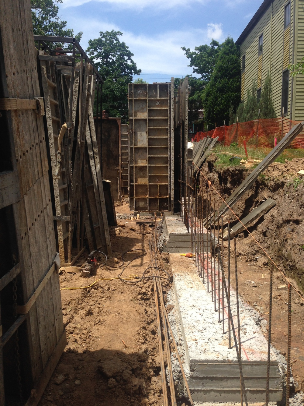 footings & foundation forms.