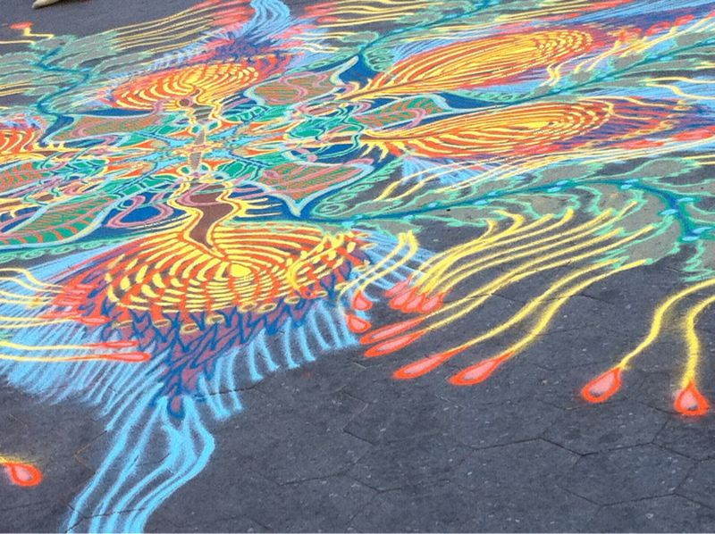 Chalk drawing in Union Square today.