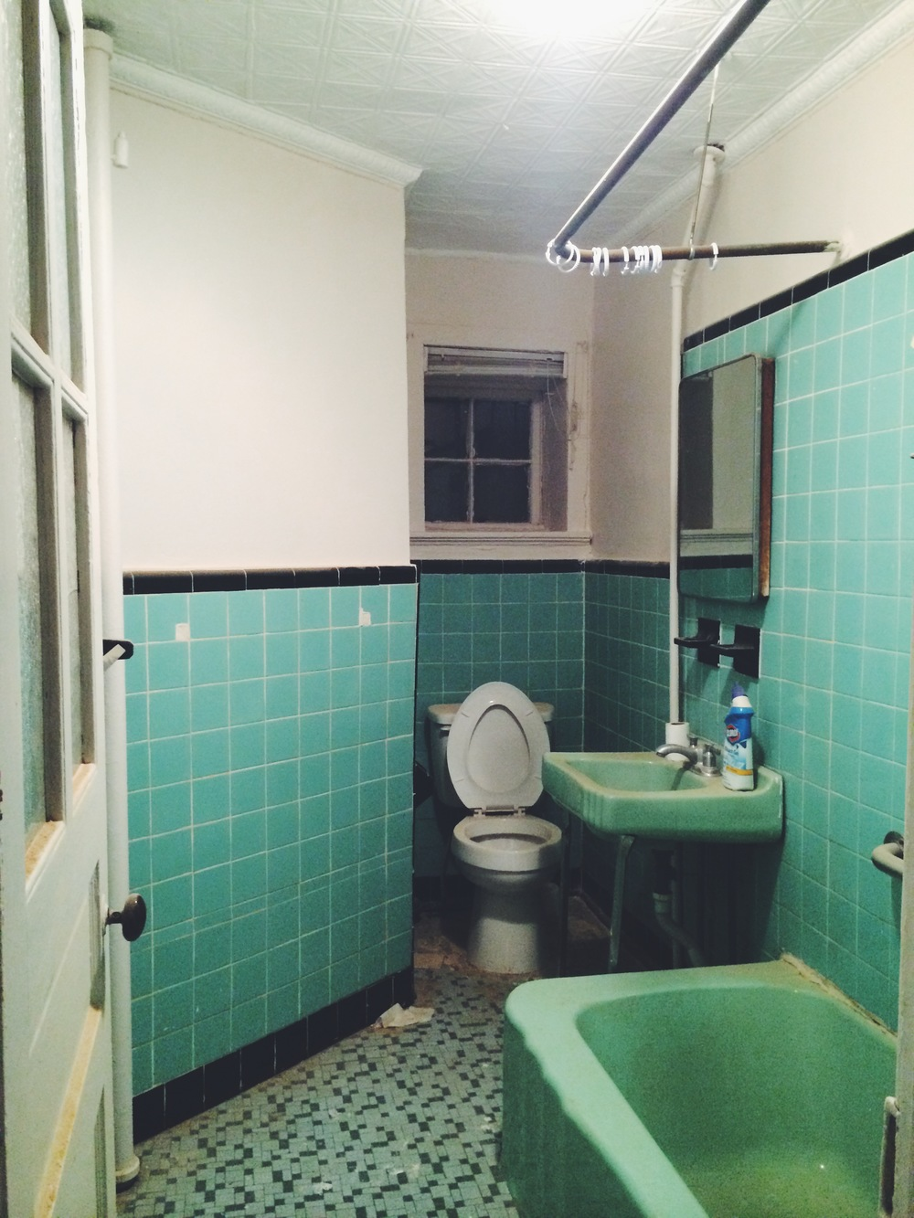 crazy green bathroom